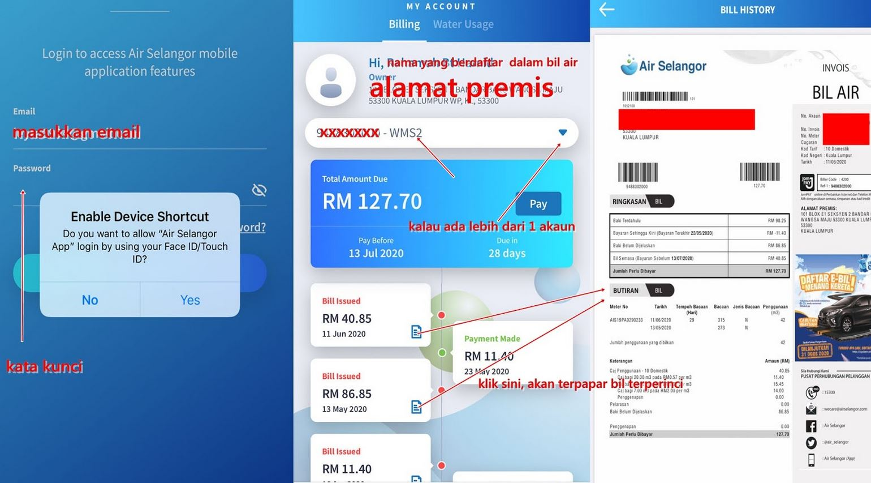 Semak Bil Air Selangor Online