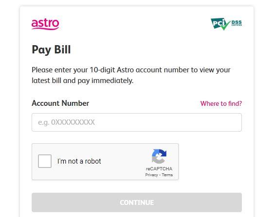Semakan Bil Astro Online