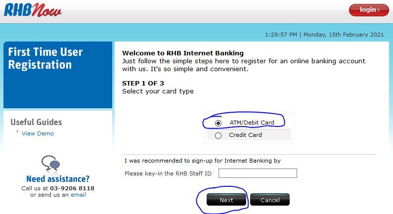 Cara Daftar RHB Bank Online Banking