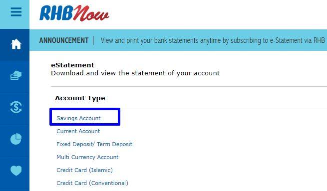 Cara Print Penyata RHB Bank Online