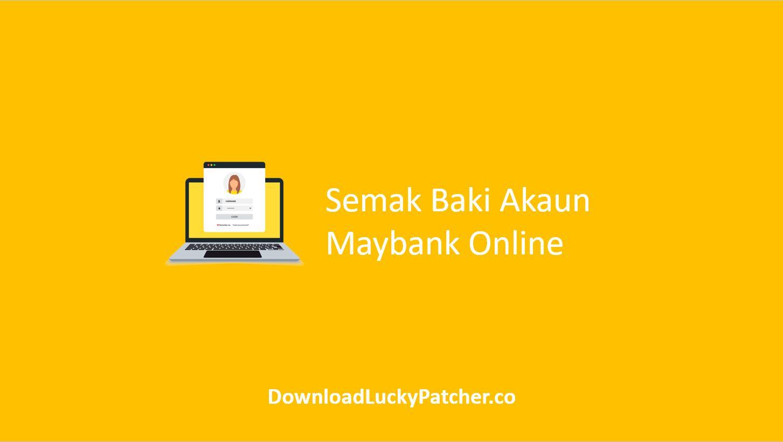 Semak Baki Akaun Maybank Online