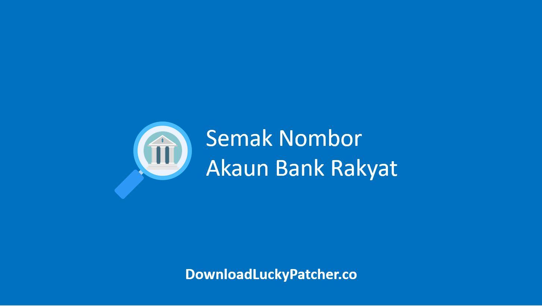Semak Nombor Akaun Bank Rakyat