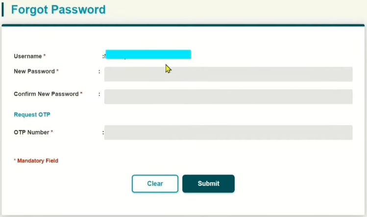 Reset Password BSN Online